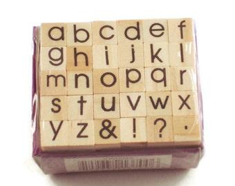 Mini Alphabet Rubber Stamp Set  (ARS-5)