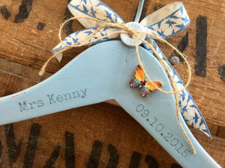 Something Blue Wedding Gift Wedding Hanger Bridal Hanger
