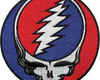 """Grateful Dead Iron On Patch 8"""" Officially Licensed by C&D Visionary P-1218-X (Large)"""
