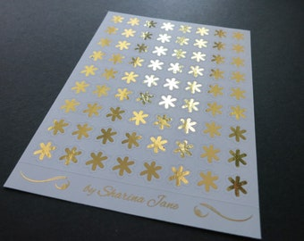 Foiled Asterisk Planner Stickers