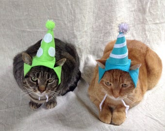 Birthday Party Hat For Cats- ANY COLOR