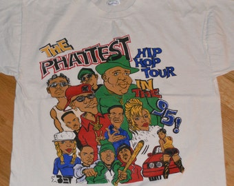 1995 BET Hip-Hop NOTORIOUS B.I.G Naughty by Nature vintage 1990's concert rare t-shirt (XL) Biggie Smalls Puff Daddy Craig Mack Mary J Blige