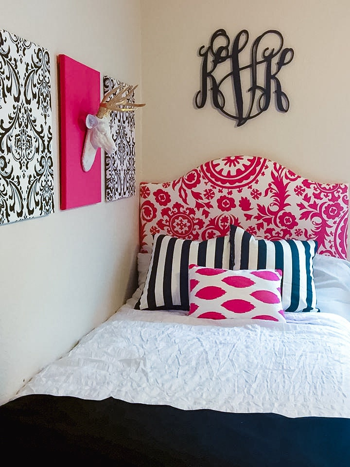 Low Profile Dorm Headboard, Twin Headboard, Bold Pink Fabrics, Dorm Room  Headboard, Dorm Decor, Graduation Gift, Bedroom Decor, Dorm Life