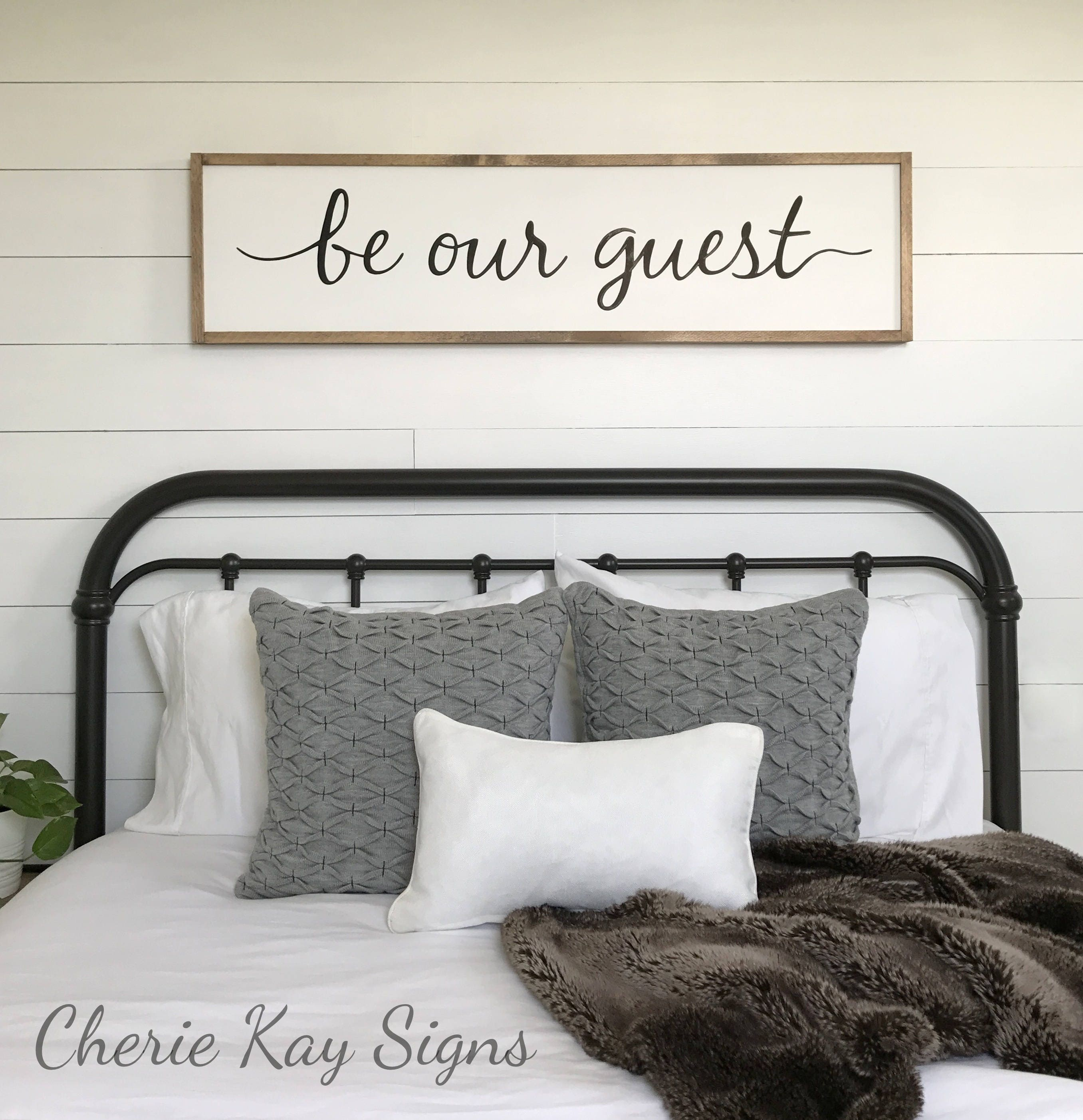 Guest Room Decor Be Our Guest Sign Framed Sign Wood Sign