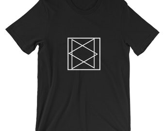 Triangles T-shirt, Unisex T-shirt, Men's T-shirt, American Apparel Crew Neck, unique T-shirt,100% Cotton,  Made in the USA