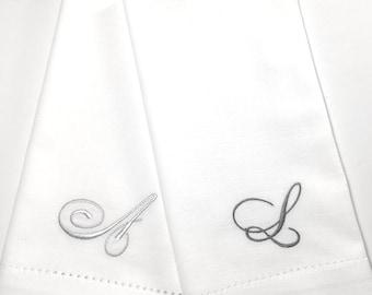 monogrammed cloth napkins wedding embroidered cloth dinner napkins wedding linen napkinspersonlizedelegant monogramwedding napkins joy