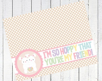 easter bag toppers bunnies rabbits basket eggs - I'm So Hoppy That You're My Friend Bag Toppers Printable