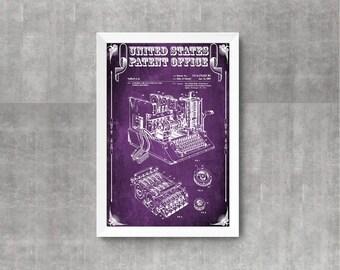 Enigma Machine Patent – Patent Print, Wall Decor, Spycraft, WWII, Spies, Secret Messages, Cipher Machine