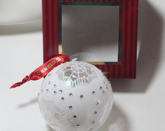 Waterford Snowflake Ball Ornament, Boxed, Excellent condition