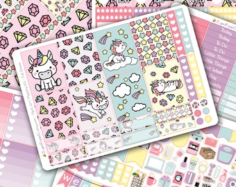 Unicorn DELUXE Weekly Planner Sticker Kit