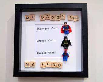 My Daddy is my Hero- Box Frame