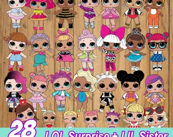 28 Cliparts LOL Surprise + LIL Sister - Serie 1