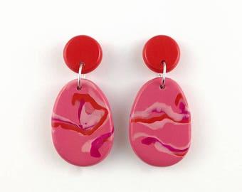 F I Z Z [Pink] Drop Earrings