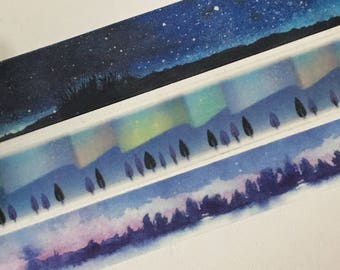 Limited Edition Washi Tape: Night of the Sky/ Aurora / Northern Light