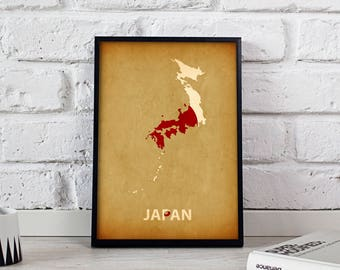 Japanische Wand karte wand kunst
