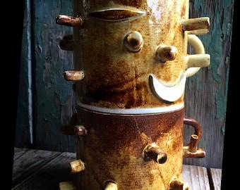 Dark forest totem stump mugs
