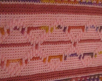 Pretty in Pink Crocheted Afghan
