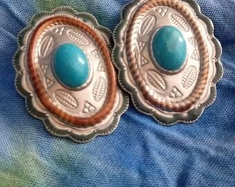 1980s Southwestern Earrings