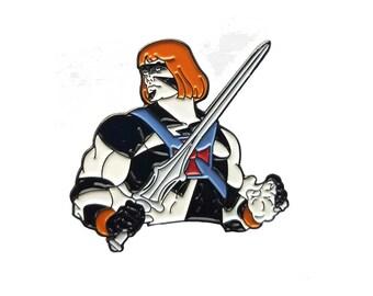 Henan (He-Man & Conan The Barbarian) Mashup 1.5 Inch Pin - SALE