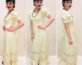 Vintage Dress, size 10/12, 1970s Dress, Hippy Dress, Boho Dress, Maxi Dress,