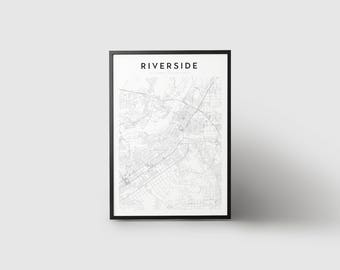 Riverside Map Print