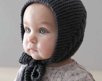 Baby Bonnet Hat, Soft Knit Baby Hat, Baby Knit hat, sizes from Newborn