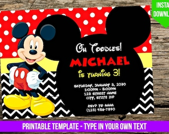Mickey mouse invites etsy search results favorite favorited add to added mickey mouse invitation filmwisefo
