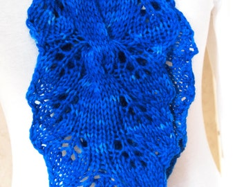 Instant Download pdf Hand Knitting Pattern  - Blu Ivy Scarf