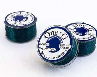 Teal Toho Nylon Size G Thread #CDG006