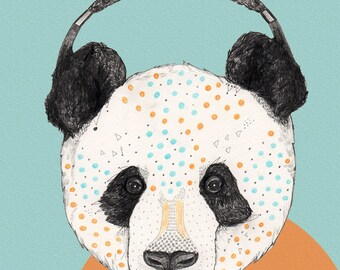 Polkadot Panda  // Signed A3 print