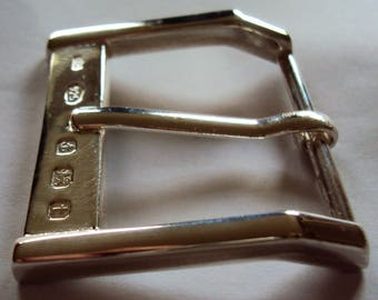 "Solid Sterling Silver Belt Buckle ""The Soho"""
