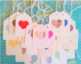 Gift Tags, Deco Tags, Heart Tags, Set of 30, Wedding Tags, Favors
