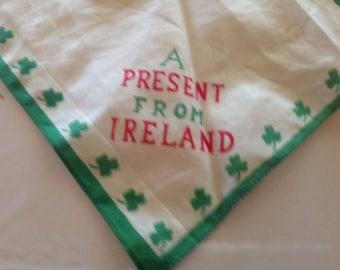 VIntage Ireland souvenir hanky