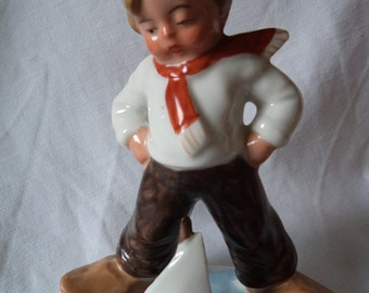 Vintage Ceramic Sailor Boy Ornament