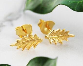 Gold Studs, Holly Stud Earrings, Organic Stud Earring, Tiny Gold Earrings, Small Studs, Gold Stud Earrings, Dainty Gold Earrings, Tiny Stud