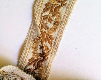Vintage Upholstery Trim Floral Leaf  Pattern price for 2 metre