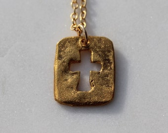 Cross Cutout Necklace