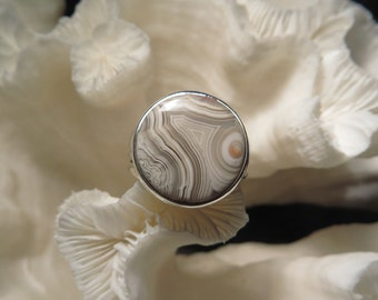 Crazy Lace Agate Jasper Ring Size 8.5