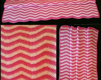 Crochet Chevron Blanket/Afghan/Throw
