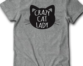 Crazy Cat Lady Shirt Cute Kitten Tank Top Meowy Meowied Funny Humor Adorable Gift Idea Christmas Present Love Adore Pets Kawaii