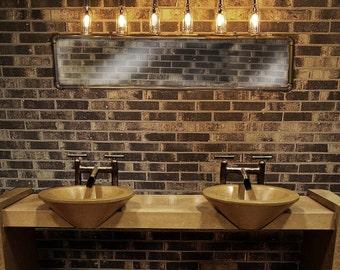 Vanity Light. Wall light, Beer bottles, Plumbing pipe,Bathroom Vanity Lighting Fixture