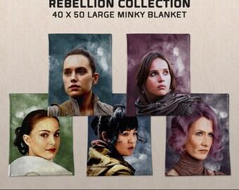 Women of the Rebellion: Star Wars-inspired Large Minky Blanket