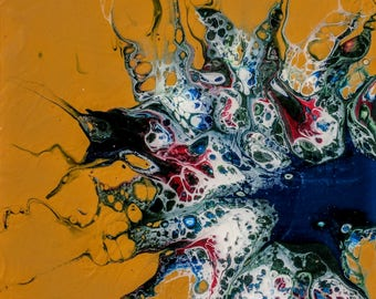 Limited edition photograph of acrylic pour painting