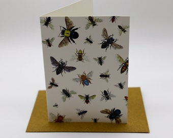 Australian Native Bee Cards x 4