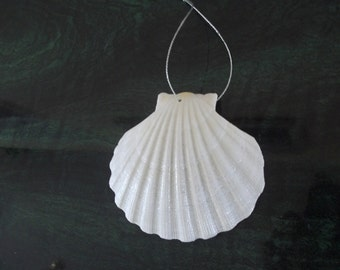 Scallop Irish Deep Sea Shell Christmas Beach Nautical Ornament