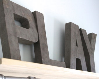 Playroom Wall Decor - Play Letters - Play Signs - Kids Playroom Decor - Kids Room Sign - Kids Room Wall Decor - Play Room Decor - Kids Decor