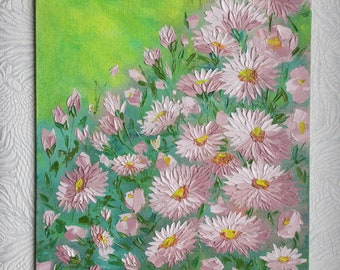 Flower ball. Drawing on the canvas oil paints.