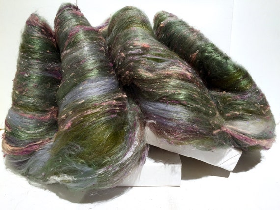 """Fiber Art Batt Club, """"Wilde Garden""""  art batt club, fiber art spinning felting wool, gift subscription, free shipping, art batt"""