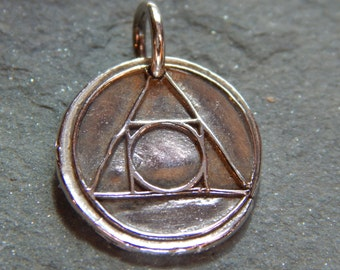 Alchemy Wax Seal Charm, science, transformation, transforming elements, medieval chemistry, gold, spiritual progress, creation, combination