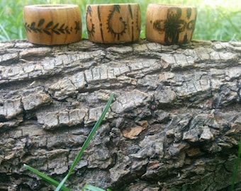 3 Large Mulberry Hand made Dread lock beads